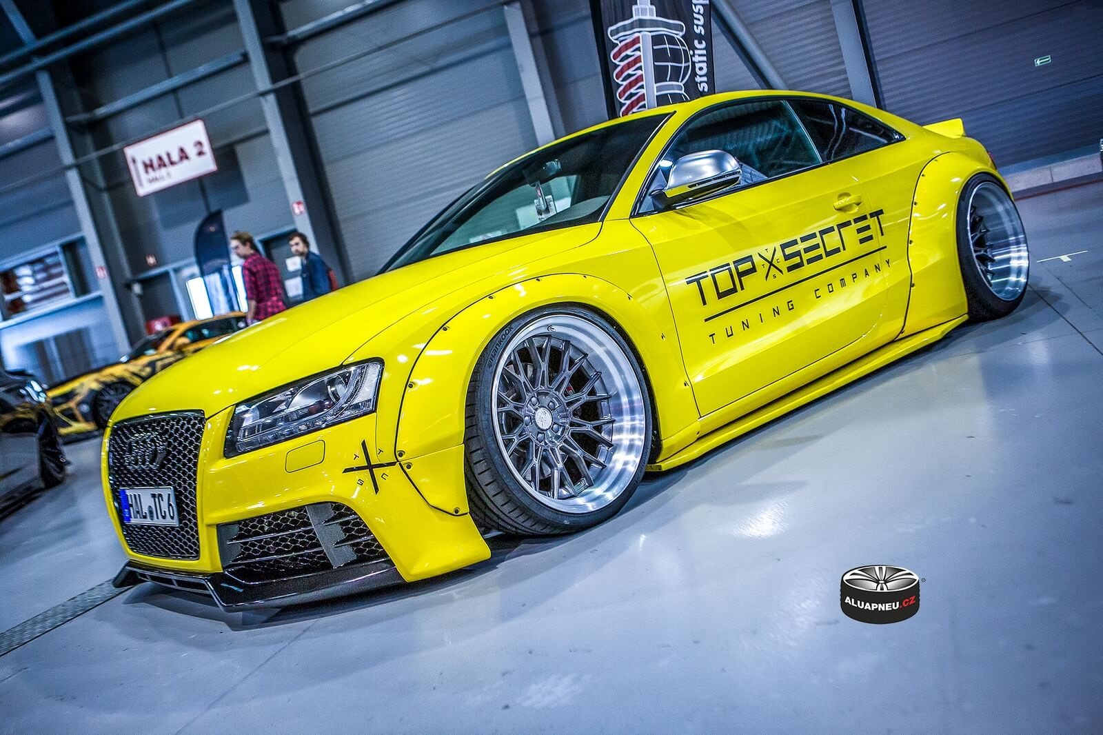 Alu kola Audi A5 yellow Top Secret Prague Car Festival 2018