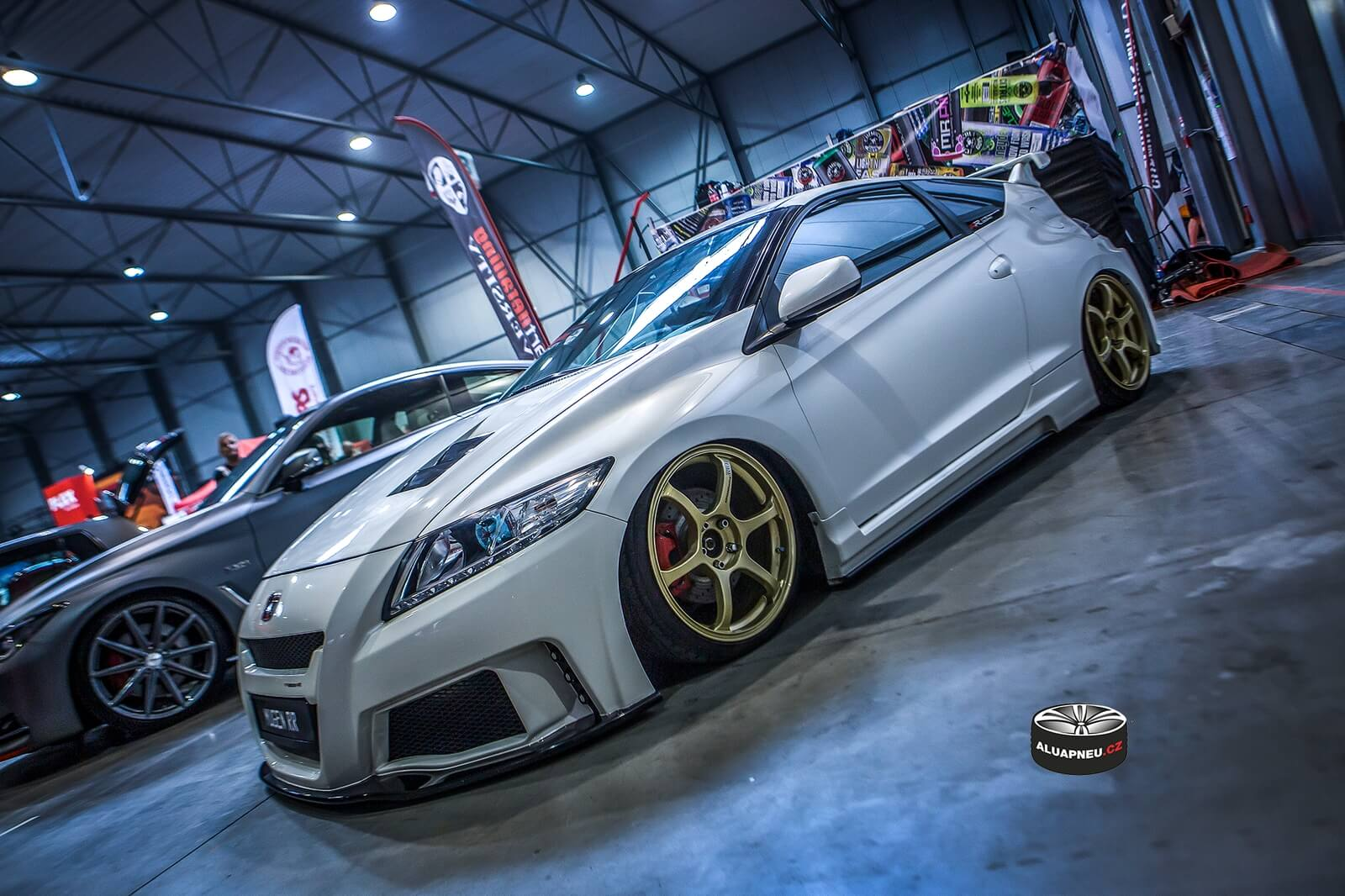 Alu kola Advan Rg2 gold Honda Crz Prague Car Fest