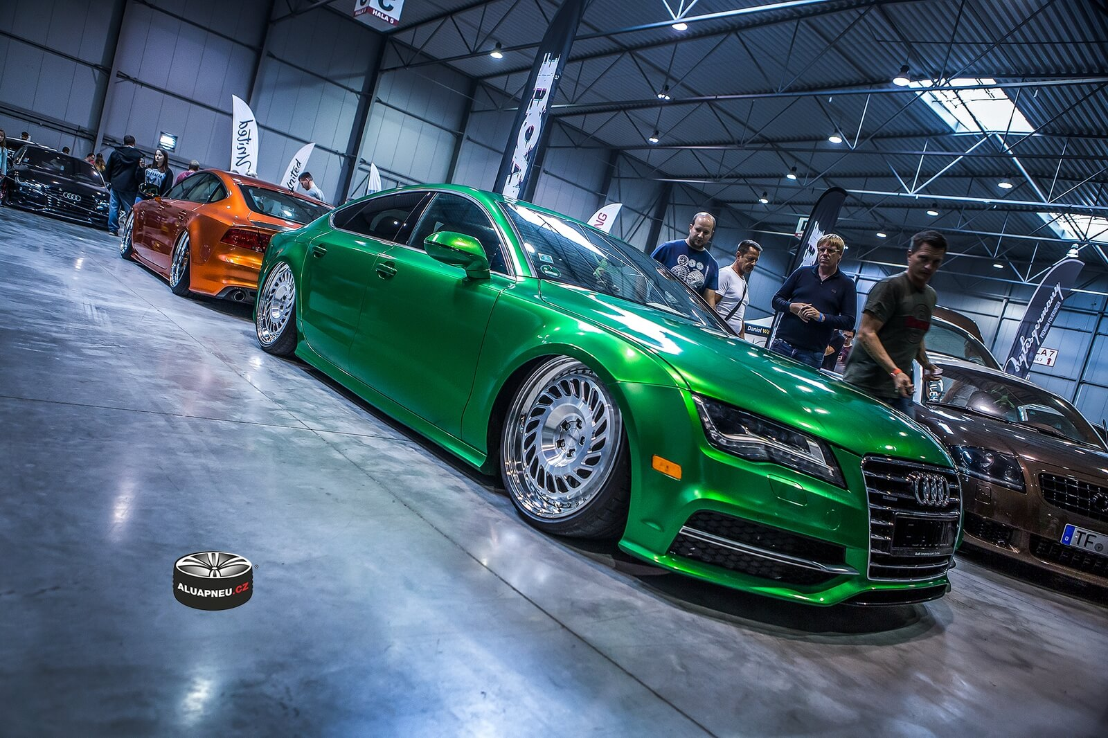 Alu kola Audi chrome lip Prague Car Festival 2018