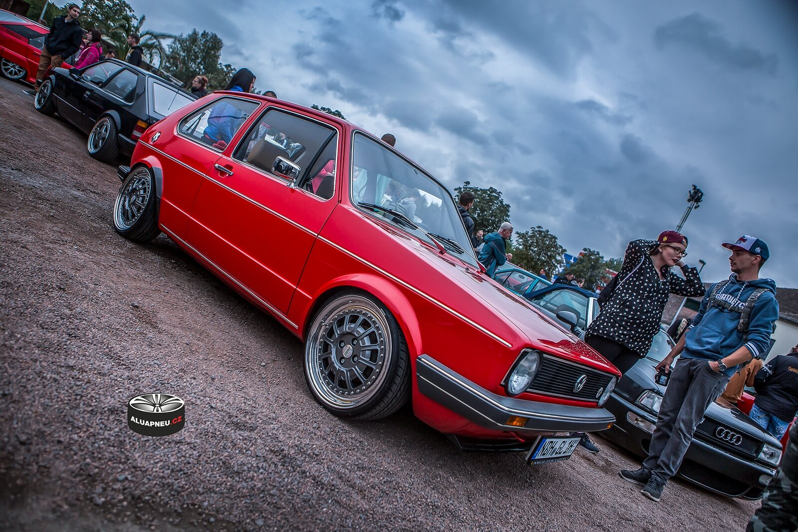 Elektrony Volkswagen Golf Mk1 red - tuning Xs CarNight