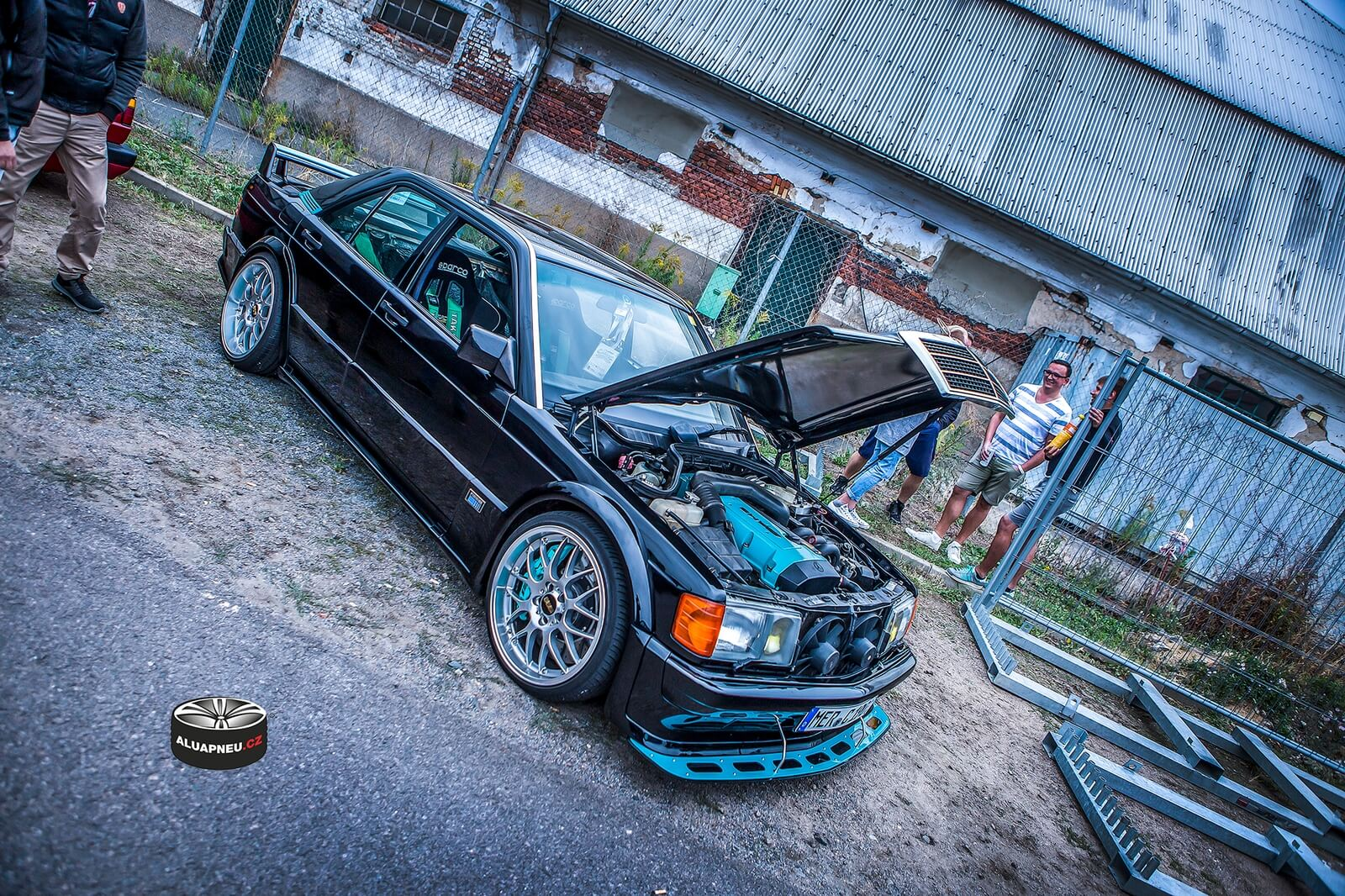 Elektrony BBS Mercedes 190e Evolution tuning - Dresden Xs CarNight