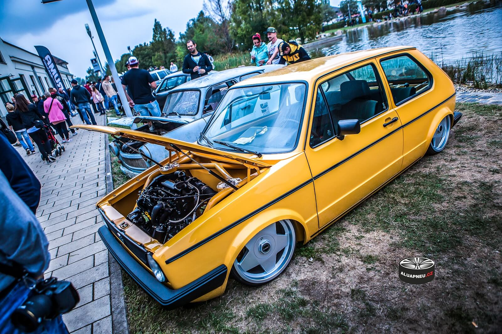 Alukola Volkswagen Golf Mk1 stance - Xs Car Night Dresden