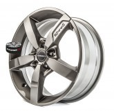 Alu disky BORBET model T1 GREY 5x114.3 16""