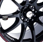 Elektrony ADVAN RACING RZ BLACK 4x100 15""