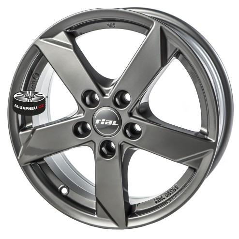 Alu kola RIAL model KODIAK GREY 5x112 17""